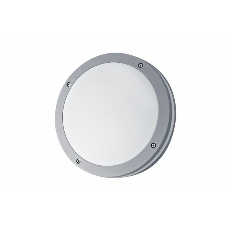 Aplique Vega, para techo o pared, 2 luces E27 , aluminio y policarbonato opal