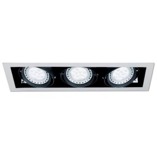 Embutido LED Cardánico AR-111, 3 luces 12w c/u Lucciola