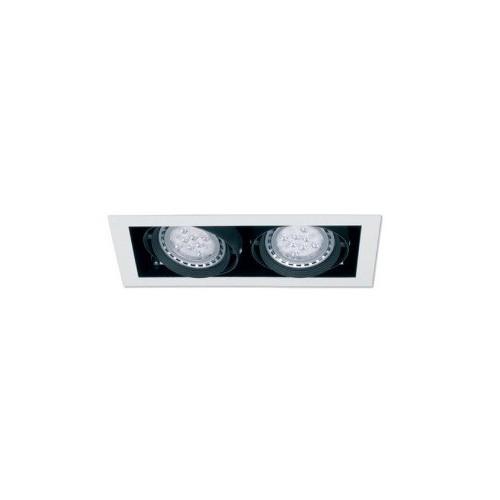 Embutido LED Cardanico AR-111 2 luces 12w. c/u Lucciola