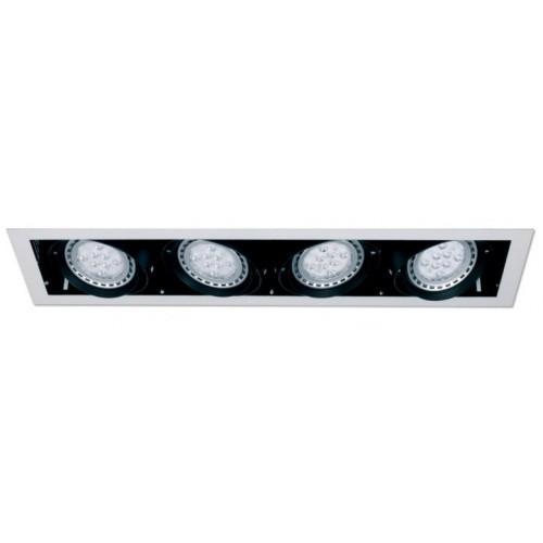 Embutido LED cardánico AR-111 4 luces, 12w c/u Lucciola