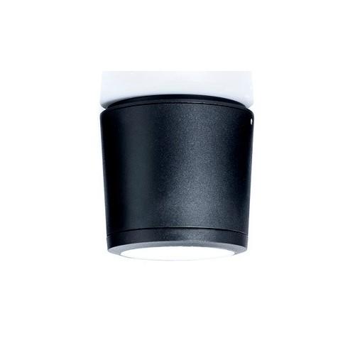 Aplique techo 1 luz, p/AR111, fundición aluminio, cristal templado