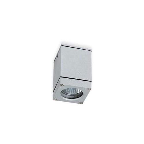 Aplique techo, 1 luz, p/dicroica, aluminio y cristal