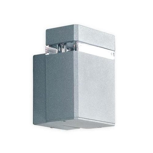 Aplique unidireccional, fundición aluminio y cristal