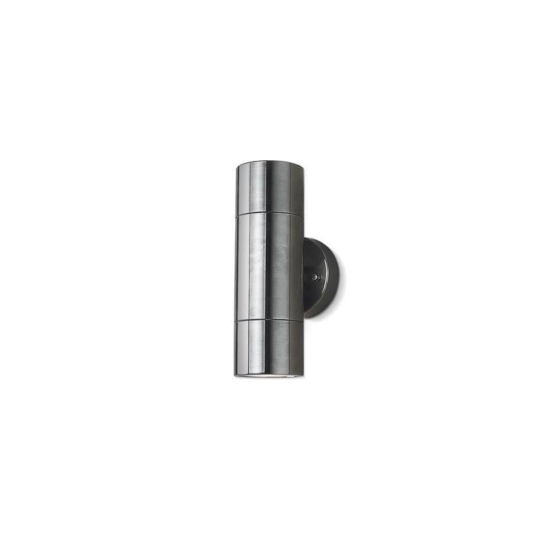 Aplique bidireccional PR290, 2 luces, acero inoxidable y cristal