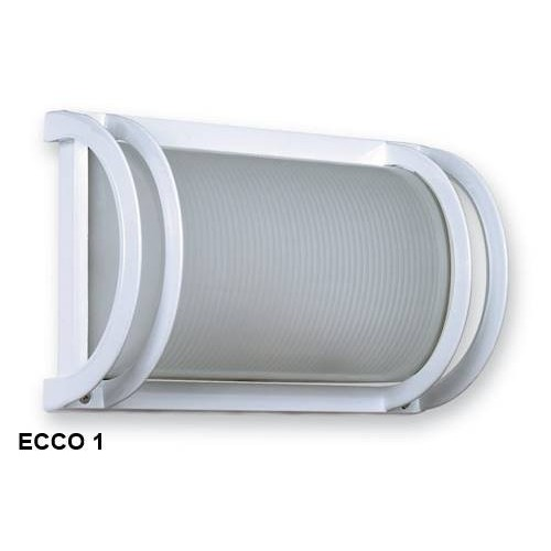 Aplique  1 luz E27, fundición aluminio y vidrio