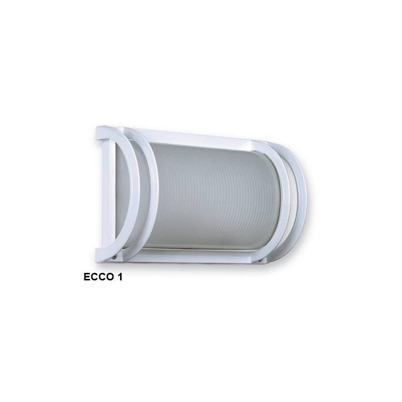 Aplique Ecco 1, 1 luz E27, fundición aluminio y vidrio