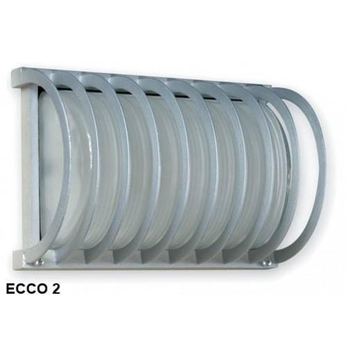 Aplique Ecco 2, 1 luz E27, fundición aluminio y vidrio