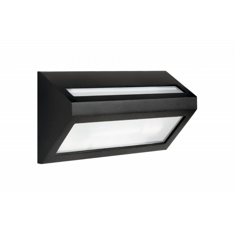 Aplique Queen 1 luz E27, fundición aluminio y vidrio