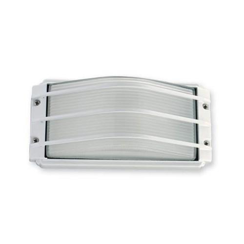 Aplique 1 luz E27, inyección aluminio y vidrio