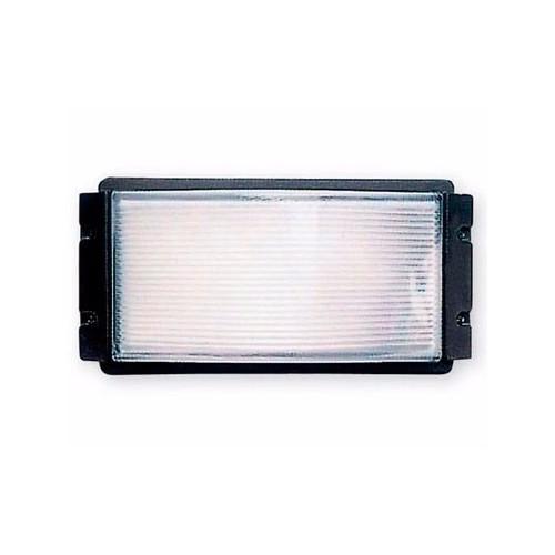 Aplique, 1 luz E27, inyección aluminio y vidrio