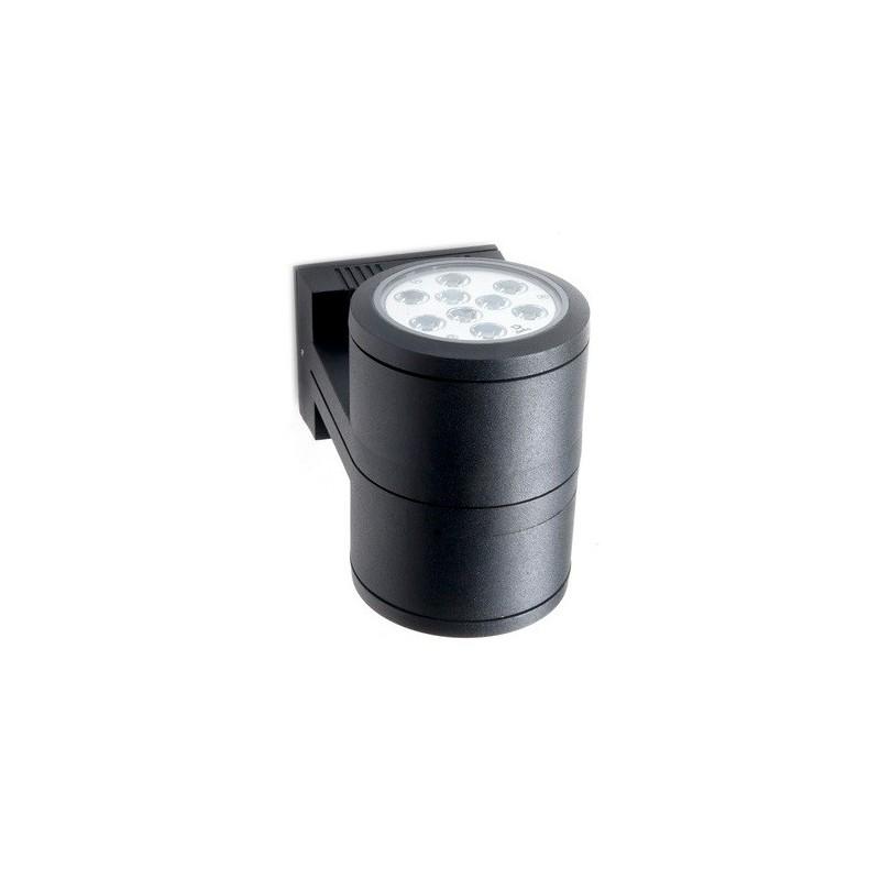 Aplique bidireccional D103, 2 luces, fundición aluminio y cristal