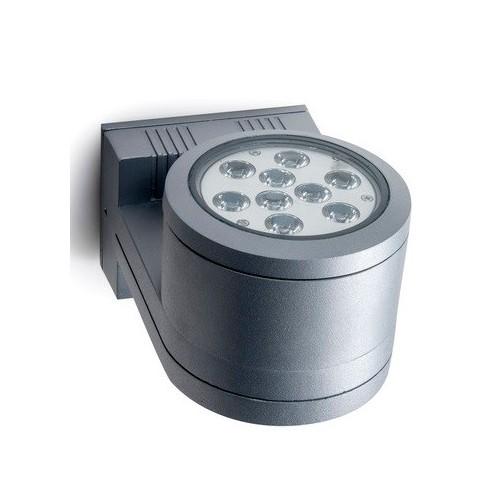 Aplique unidireccional D103, 1 luz, fundición aluminio, cristal