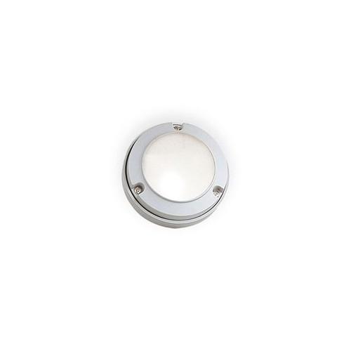 Aplique tortuga mini, p/ 1 lámpara G9, fundición aluminio y vidrio satinado. Disponible en color blanco