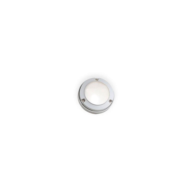 Aplique tortuga mini E3000, p/ 1 lámpara G9, fundición aluminio y vidrio satinado