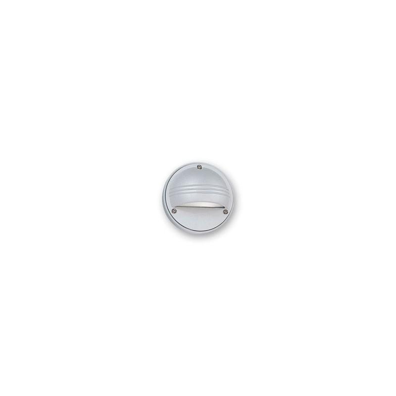 Aplique tortuga mini E3000C, p/ 1 lámpara G9, fundición aluminio y vidrio satinado