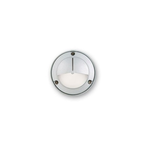 Aplique tortuga mini, visera p/ 1 lámpara G9, fundición aluminio y vidrio satinado. Disponible en color plata. Stock limitado