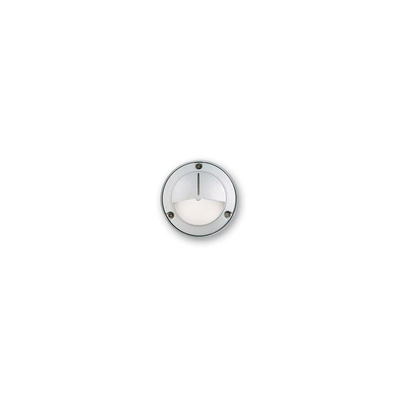 Aplique tortuga mini E3000V, p/ 1 lámpara G9, fundición aluminio y vidrio satinado
