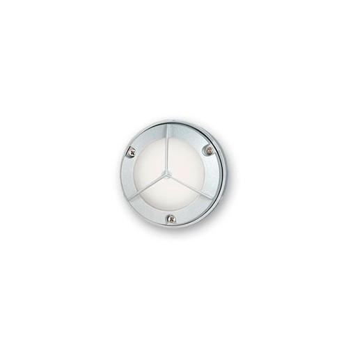 Aplique tortuga mini, p/ 1 lámpara G9, fundición aluminio y vidrio satinado