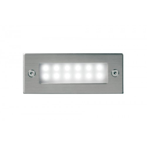 Embutido pared led, marco acero inoxidable
