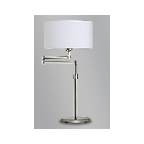 Lámpara mesa móvil, articulada, regulable en altura, con pantalla lienzo