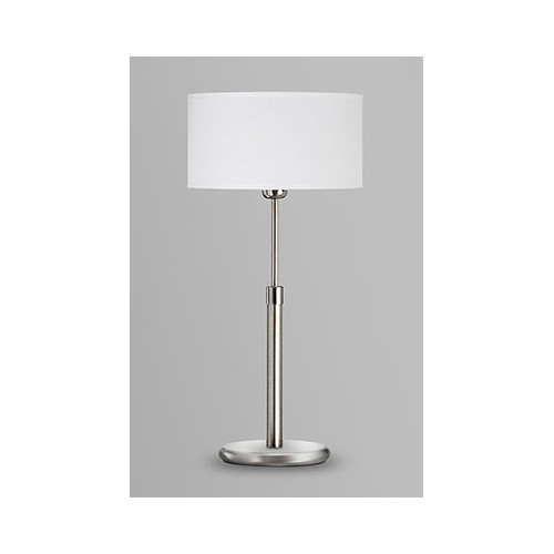 Lámpara mesa, 1 luz, regulable en altura, con pantalla lienzo