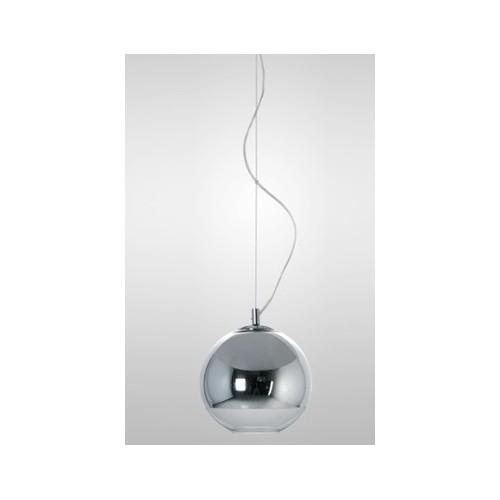 Colgante esfera Ø 18cm, espejado cromo o cobre, 1 lámpara