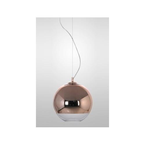 Colgante esfera Ø 25cm, espejado cromo o cobre, 1 lámpara
