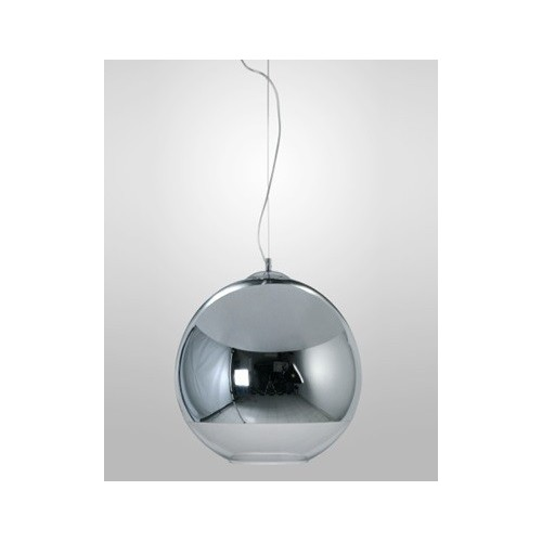 Colgante esfera Ø40cm, cristal espejado cromo o cobre para 1 lámpara