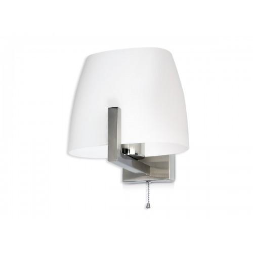 Aplique cabecera Ana, 1 luz, platil y cristal opal